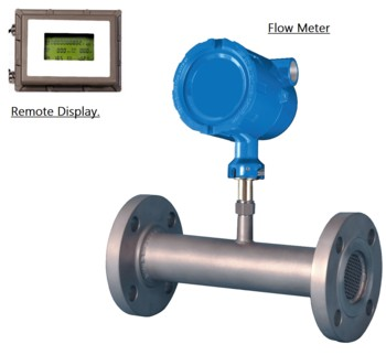 Inline Flowmeter With Remote Display