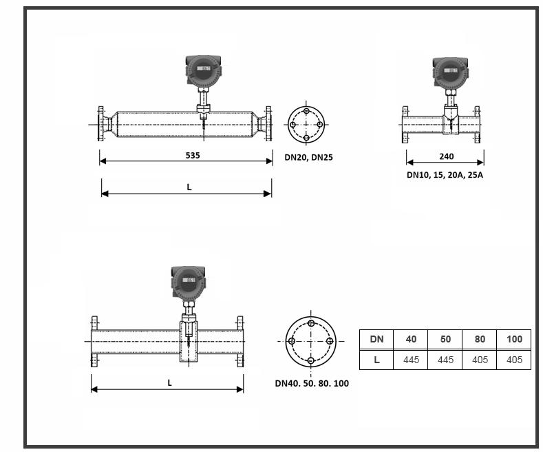 flange-in-line-thermal-mass-flow-meters